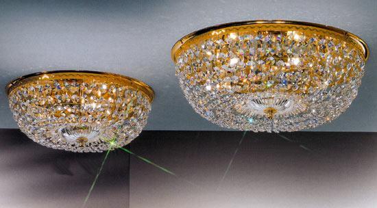 Plafoniere Cristallo Swarovski : Plafoniera in stile tonda cristallo metallo